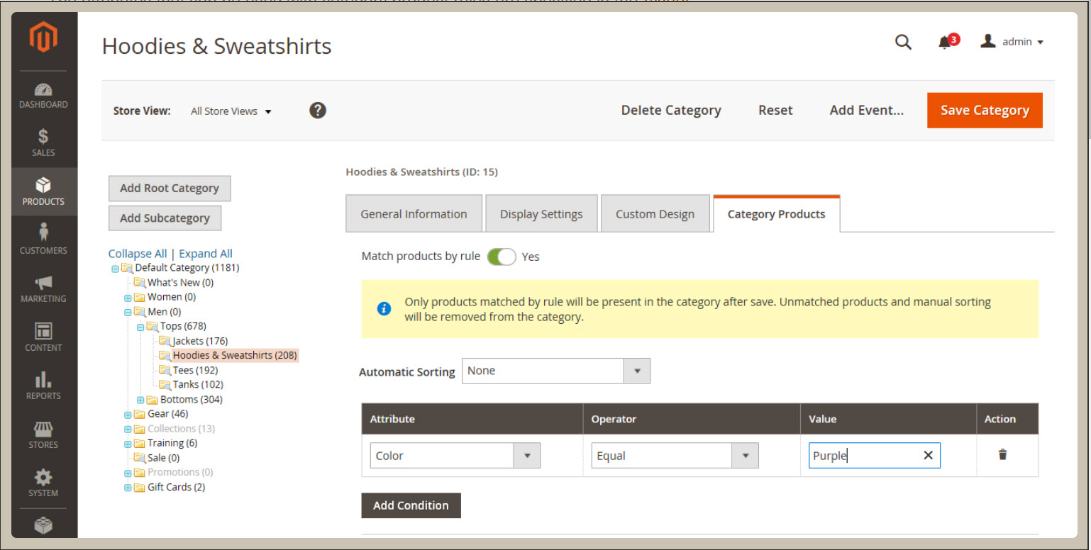 Magento 2 Commerce Adding Products to Category Automatically