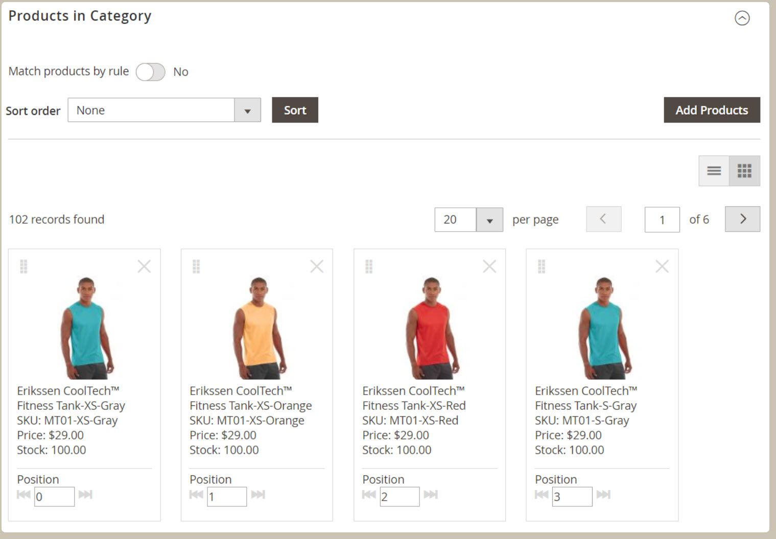 Magento Online Merchandiser Screenshot